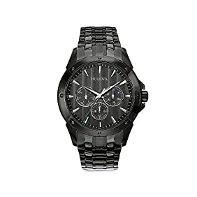 Bulova Men's Black Ion-Plated Watch