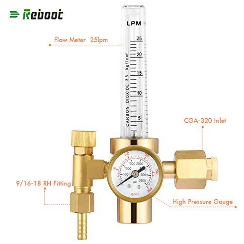 Gas Regulator Co2 Full Copper Flowmeter Welding Regulator Gas Valves Welding Accessory For Mig Welder