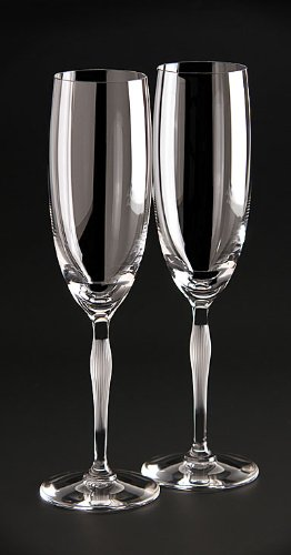 Lalique 100 Points Toasting Flute Glasses By James Suckling, (Lalique Flute)