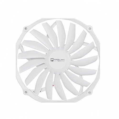 Prolimatech Ultra Sleek Vortex 140mm x 15mm PMW Fan (120mm Mounting Pattern) - White