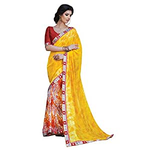Shilp-Kala Faux Georgette Printed Multi Colored Sarees SKPP1848