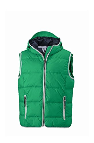 Moda Alla Gilé Con E Irish Men's green Vest Cappuccio white Imbottito Maritime B55SdTrq