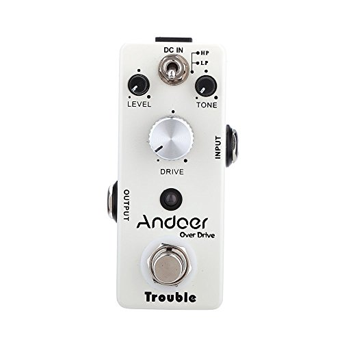 Andoer TC-16 Overdrive Guitar Effect Pedal True Bypass by Andoer