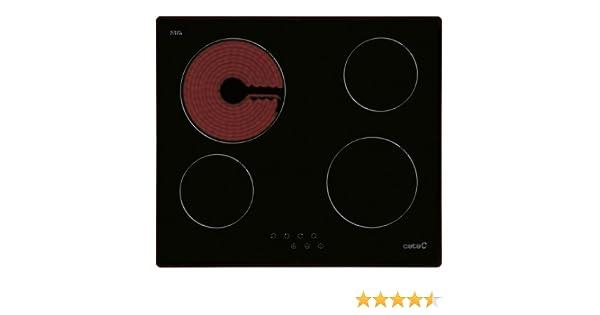 CATA T 604 - Placa Vitrocerámica T604 Con 4 Zonas De Cocción: 156.91: Amazon.es: Grandes electrodomésticos