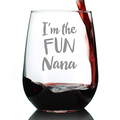 I'm the Fun Nana Stemless Wine Glass