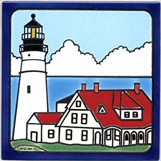 product image for PORTLAND HEAD LIGHTHOUSE TILE, LIGHTHOUSE WALL PLAQUE, LIGHTHOUSE TRIVET LH-9