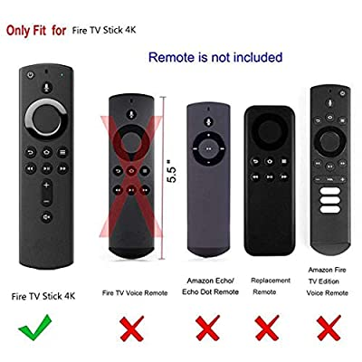 WEIJIJ Silicone Proof Case Cover for Amazon Fire TV Stick 4K TV Stick Remote Silicone Case Protective Cover Skin Shock Protector Protection