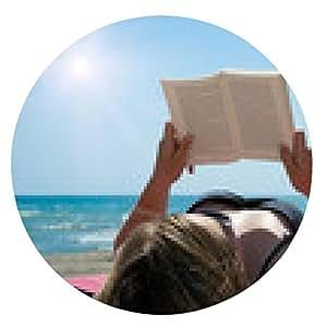 alfombrilla de ratón La lectura de un libro en la playa - ronda - 20cm