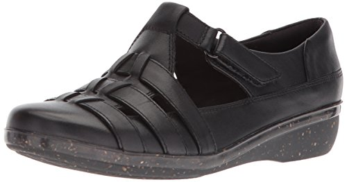 Clarks Women's Everlay Cape Loafer Black Leather yRijU