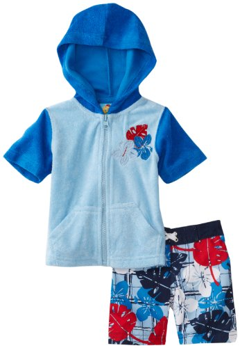 Baby Bunz Boys' Terry Cover Up With Swimtrunk