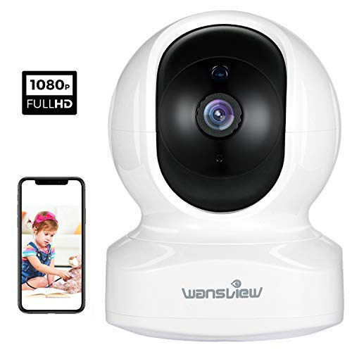 Home Camera, Wireless Security Camera 1080P HD Wansview, WiFi IP Camera for Pet/Baby/Nanny, Motion Detection, 2 Way Audio, Night Vision, Works with Alexa Echo Show, with TF Card Slot and Cloud