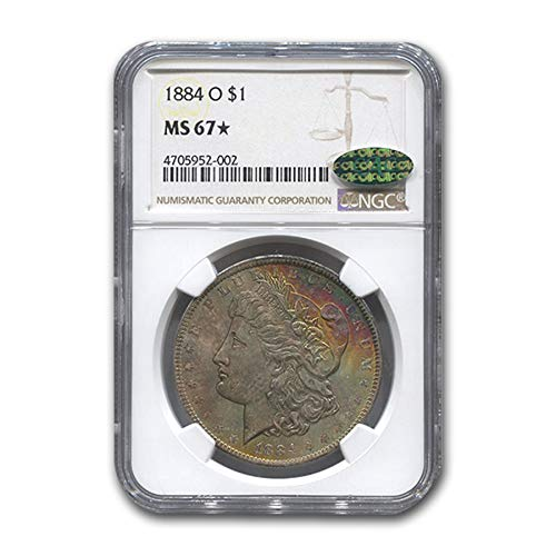 1884 O Morgan Dollar MS-67* NGC CAC $1 MS-67 NGC