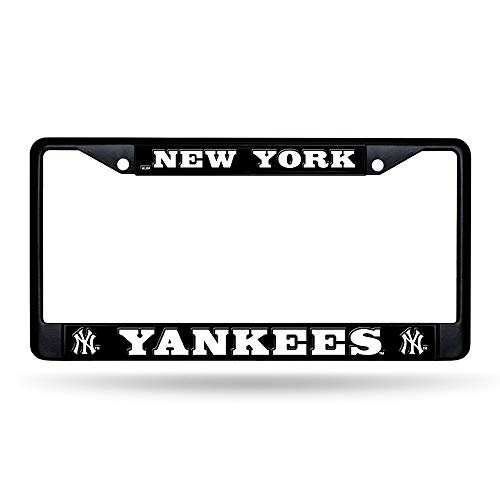 (Rico Industries New York Yankees Black License Plate Frame)