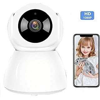 Wireless Home Security Camera System Indoor 1080P Surveillance Camera Smart 2.4G WiFi Camera with 2-Way Audio Night Vision Motion Detection for Baby/Pet Monitor