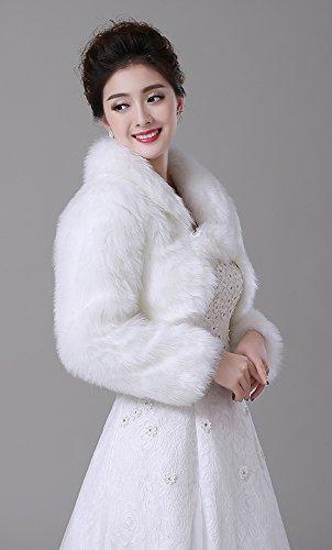 XYX Mariage châle écharpe épaulière femmes dame épaulette bolero combinaison cape veste manteau de mariée nuptiale combinaison de cape boléro veste en fausse fourrure