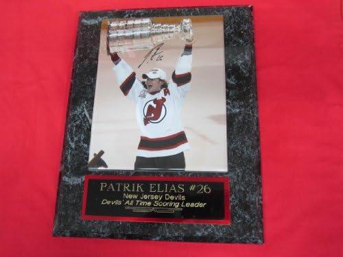 on sale ba75c c87df Patrik Elias New Jersey Devils Autographed 8x10 Plaque Photo ...