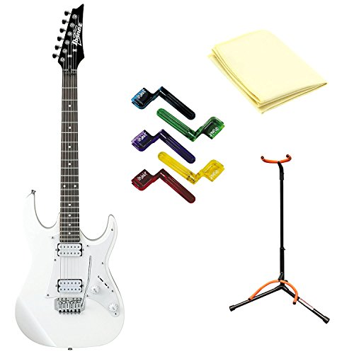 ibanez grx20w electric guitar white with polishing cloth stand and pegwinders buy online in. Black Bedroom Furniture Sets. Home Design Ideas