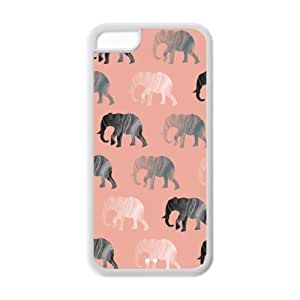 Vintage Elephant TPU Protective Case For iphone 5c