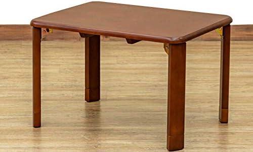 継脚付天然木テーブル 約W60xD45xH33/38cm ブラウン*パーソナルテーブル、食卓テーブル、座卓や作業台、PCデスク、ちゃぶ台,机にも