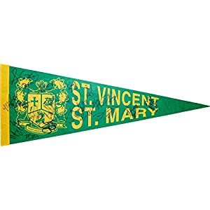 1/1 St. Vincent St. Mary TEAM SIGNED Pennant~LEBRON JAMES High School Signature VERY RARE