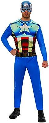 Marvel - Disfraz de Capitan América para hombre, Talla M adulto ...