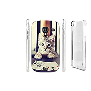 FUNDA CARCASA POKER CAT PARA SAMSUNG GALAXY ACE PLUS S7500