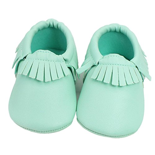 Baby Shoes,IEason Baby Kids Tassel Soft Sole Leather Shoes Infant Boy Girl Toddler Shoes (13, Green) (13th Green)