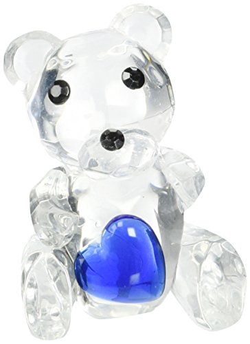 Fashioncraft Choice Crystal Collection Teddy Bear Figurines with Blue Heart