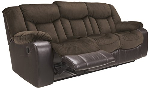 Ashley Furniture Signature Design – Tafton Reclining Sofa – Contemporary Style – Java