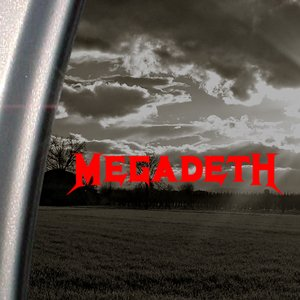 MEGADETH ROCK BAND Red Decal Car Truck Window Red Sticker
