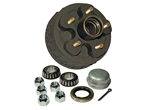 Rigid Hitch Trailer Hub-Drum Assembly - 5-Bolt on 4-1/2 Bolt Circle (HD-700C-22-A) with 1-1/16 inch I.D. Bearings - Single
