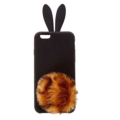 - Icing Women's Leopard Pom Silicone Bunny Phone Case - Fits iPhone 6/7/8