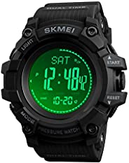 Watch Compass, Altimeter Barometer Thermometer Temperature, Pedometer Watch, Military Army Waterproof Outdoors
