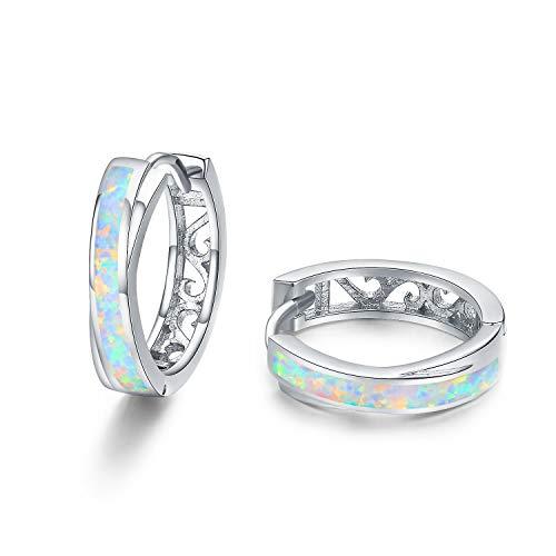 Huggie Earrings Clip on Hoop Earrings Sterling Silver Small Hoop Earrings, Hypoallergenic Nickel-Free for Women Girls (925 Sterling Silver) ()