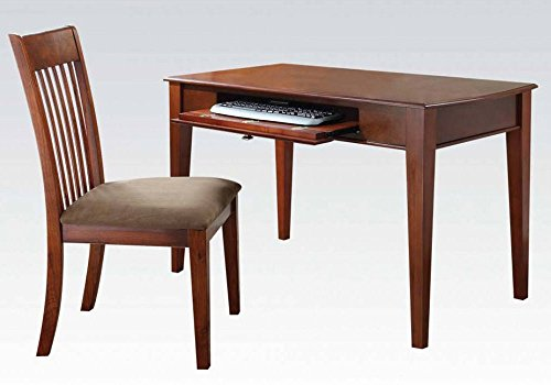 1PerfectChoice Venetia Home Office Computer Writing Desk Padded Pull-Out Keyboard Tray Wood Oak by 1PerfectChoice