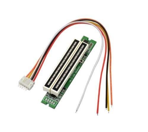 FidgetFidget Dual 12 Stereo Level Indicator LED VU Meter Lamps Adjustable Light Speed Board M