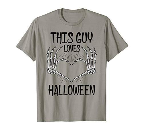 This Guy Loves Halloween Shirt For Boys Husband T-Shirt