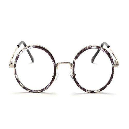 Lentes filtro luz de la Men Flores FuyingdaGafas Vidrios de azul ovales Gafas lentes Sra de redondas Negras vendimia transparentes de 6ACxwq5xR