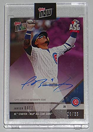 Amazoncom 2018 Javier Baez Signed Topps Now Card As 4c Chicago