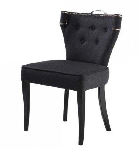 Casa-Padrino silla de comedor de lujo Florida Gris oscuro ...
