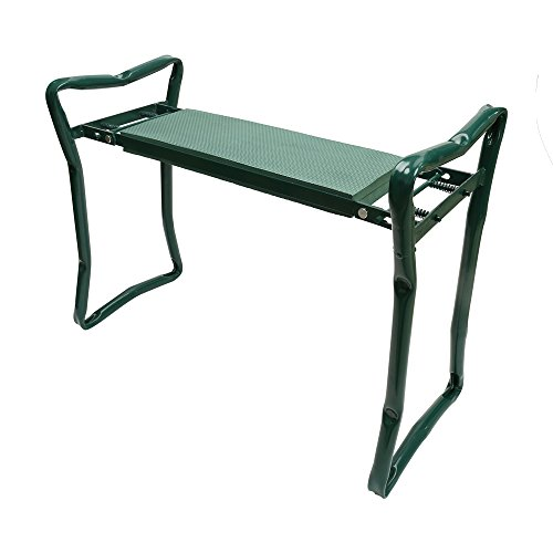 Chair Garden Seat - ORIENTOOLS Garden Seat and Kneeler Bench with Soft EVA Foam Kneel Pad Cushion - Portable Folding Stool Chair,Green
