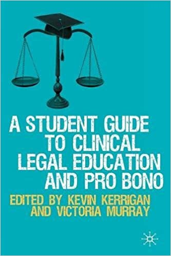 Image result for a student guide to clinical legal education and pro bono