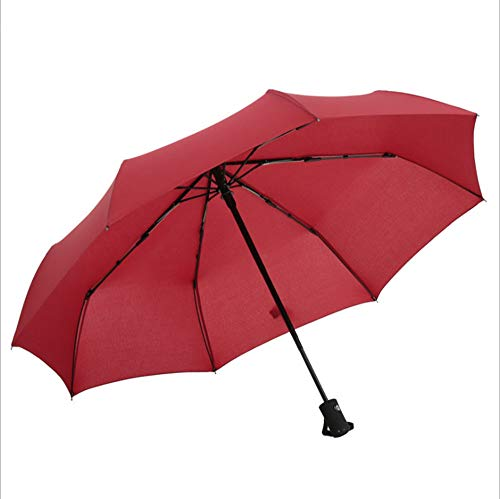 XIALIUX Automatic Inverted Folding Umbrella - Compact Lightweight Windproof Travel Reverse Car Umbrellas for Men Women Multiple Colors,Black,105cm