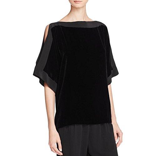 Eileen Fisher Womens Petites Silk Velvet Kimono Black PS by Eileen Fisher