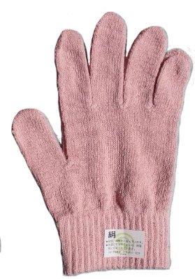 シルクたっぷりシルク手袋4色