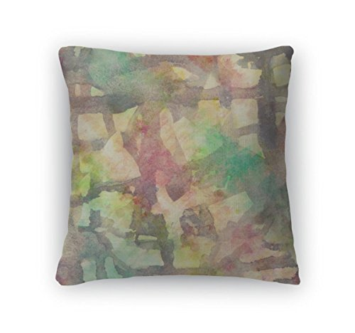 gear-new-beige-throw-pillow-18x18-abstract-colorful-painted-watercolor-splash-and-stain