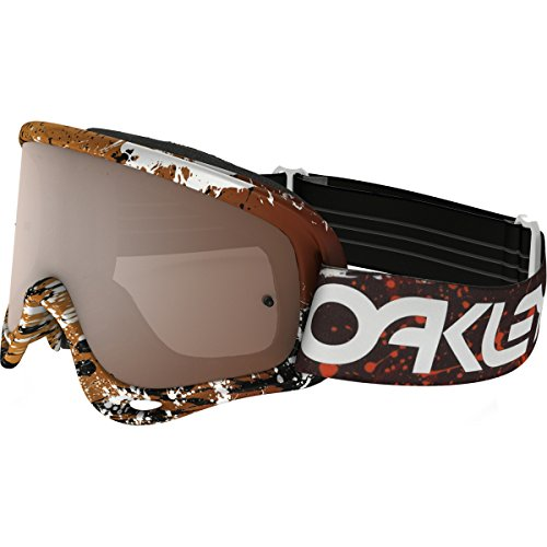 Oakley O-Frame MX FP Splatter Blood Men's Dirt Off-Road Motorcycle Goggles Eyewear - Orange/Black+Clear/One Size Fits All