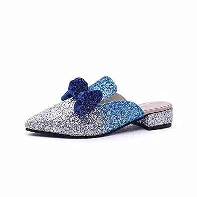 YYWLKJ Blue Mule Slipper For Women