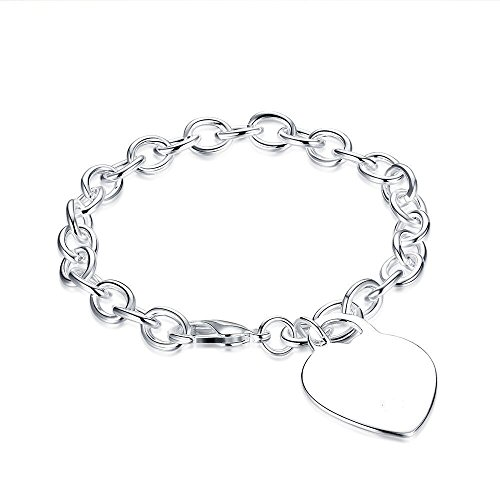 BODYA Silver Tone Round Rolo Link Hollow Chain Toggle Bracelet or Anklet (Rolo Chain Toggle Bracelet)