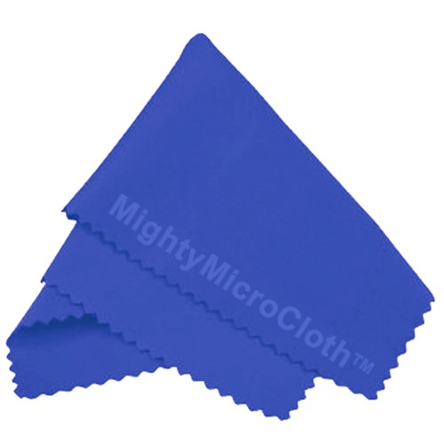 """MightyMicroCloth Microfiber Eyeglass Cleaning Cloths – Vinyl Travel Pouch – Lens Cleaner for Glasses, Camera Lenses, Tablets, Phone Screens, & Electronics – 12 Pack Royal/Blue (6""""x7"""") by MightyMicroCloth (Image #9)"""